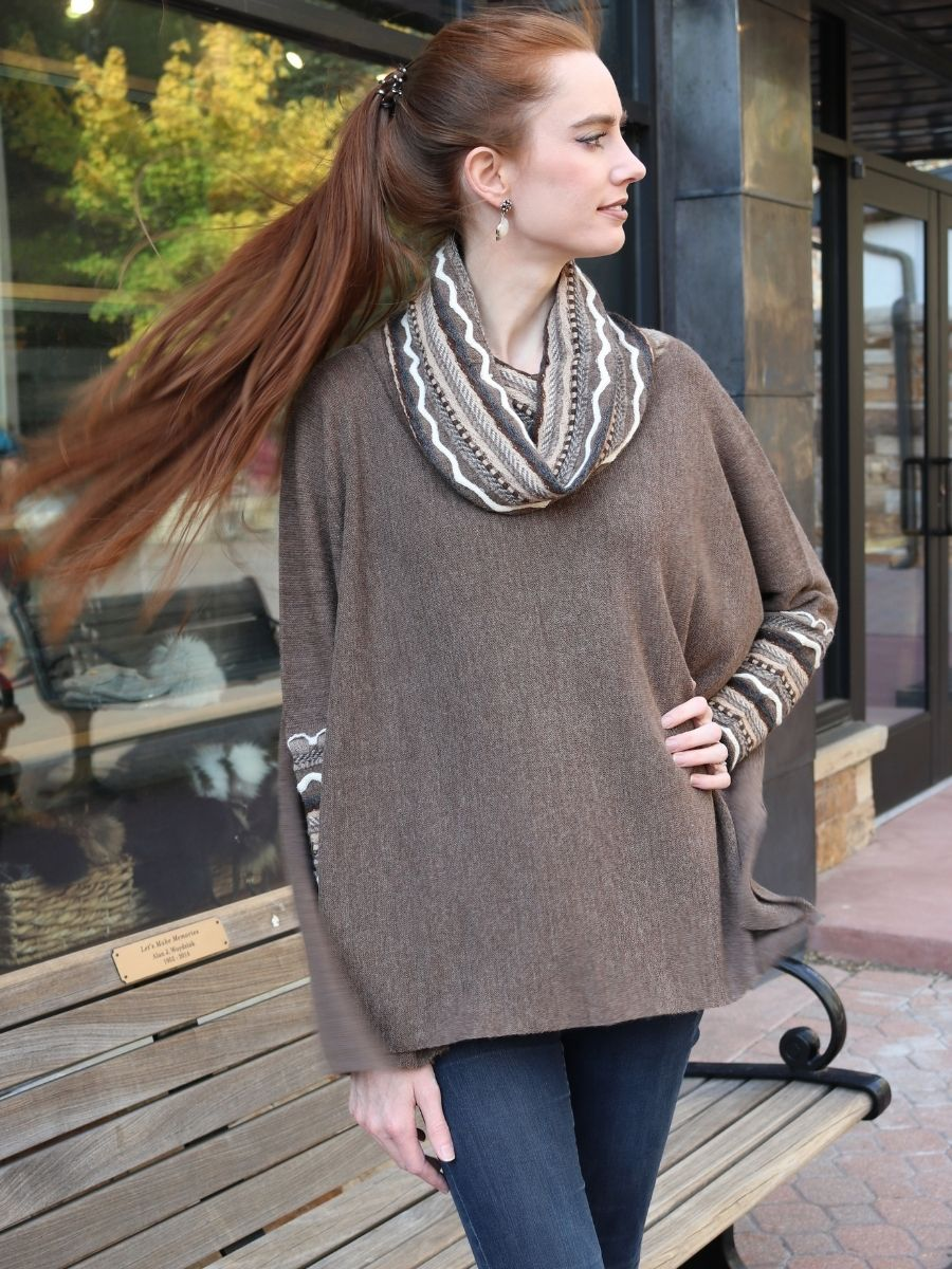 Baby Alpaca Poncho with Sleeves