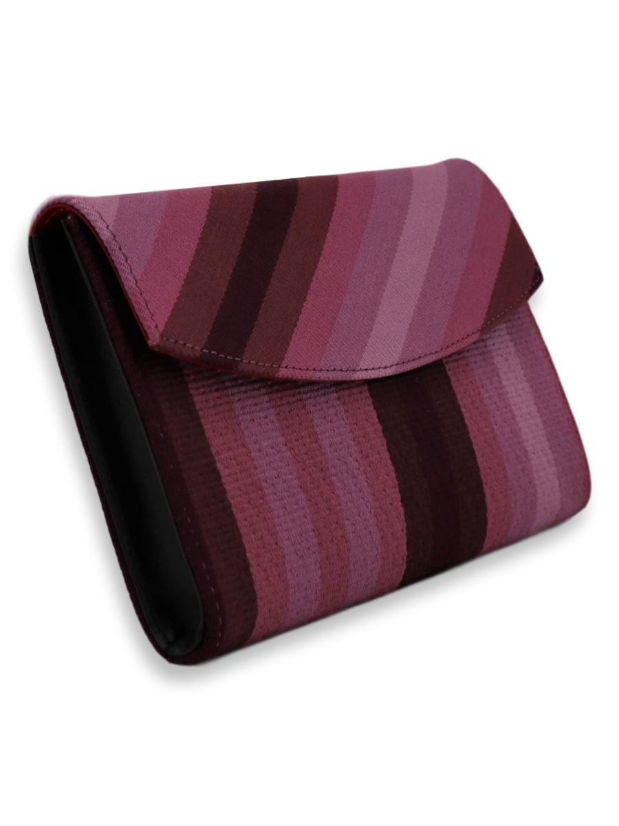 Small Clutch Bag - Purple Stripes