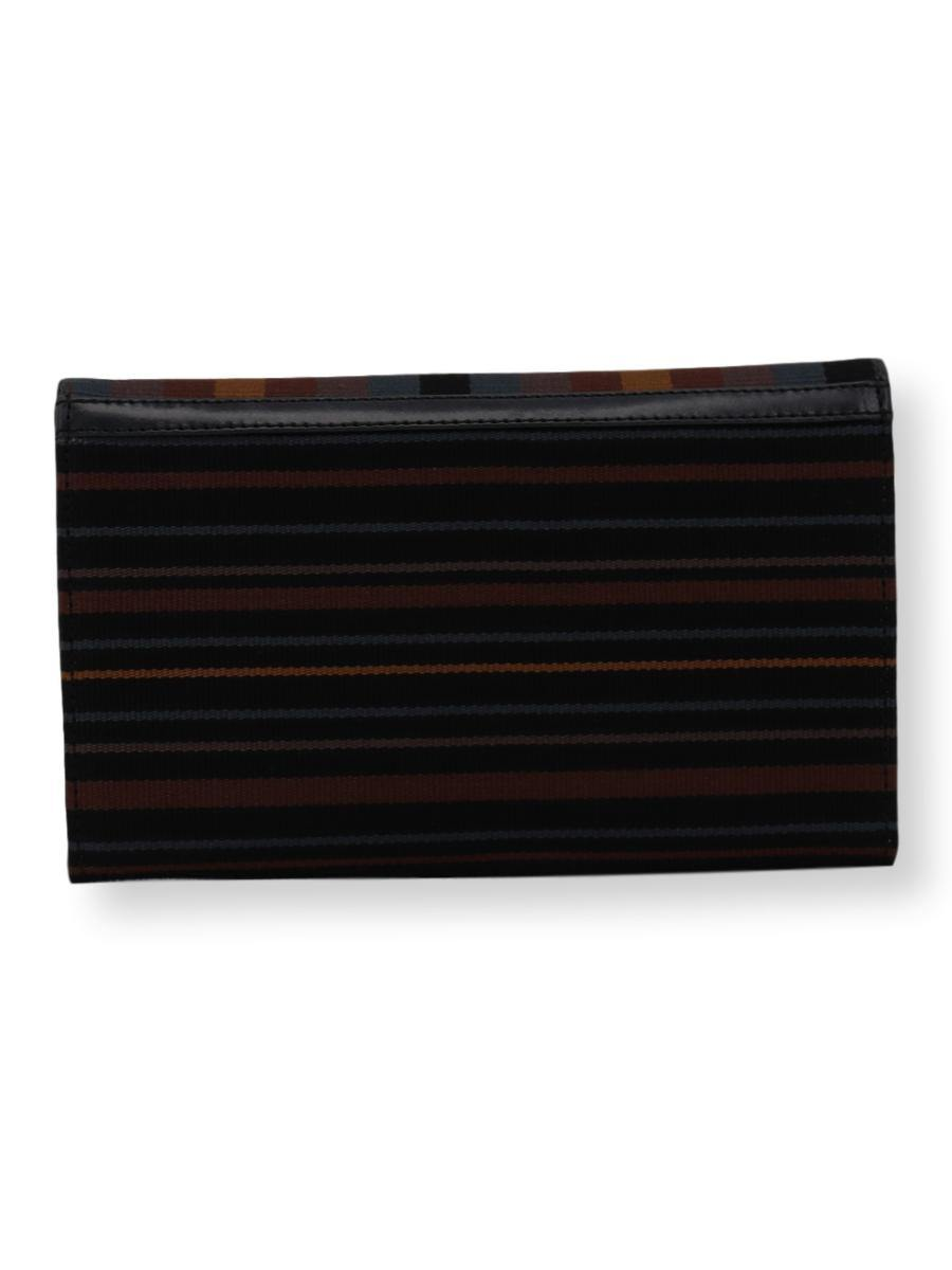 Small Clutch Bag -  pewter/black/old gold/brown