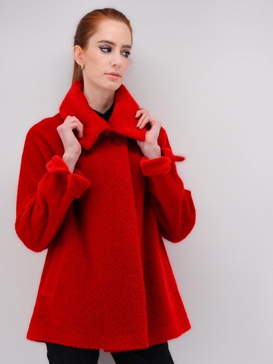 Women's Short Coat in Alpaca Wool Blend - Qinti - The Peruvian Shop
