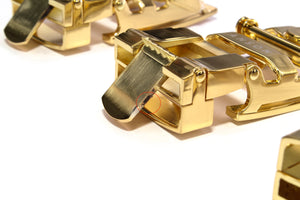 "**FACTORY SECOND** 1.25"" Traditional Buckle in Gold (shiny) - Anson Belt & Buckle"