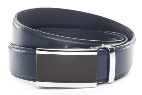1-5-quot-onyx-buckle-in-silver 1-5-quot-navy-leather-strap