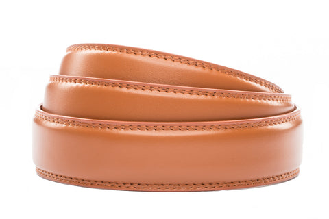 "1.25"" Saddle Tan Leather Strap - Anson Belt & Buckle"