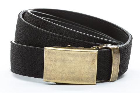 1-25-quot-classic-buckle-in-antiqued-gold 1-25-quot-black-canvas-strap