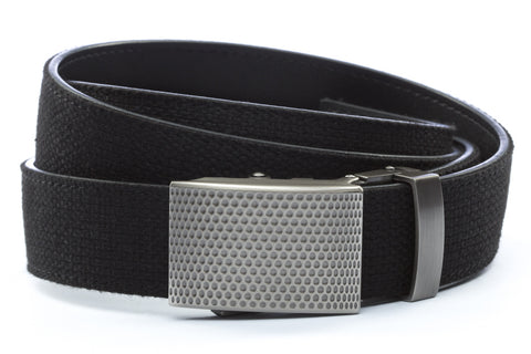 1-25-quot-anson-golf-buckle-in-gunmetal 1-25-quot-black-canvas-strap
