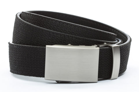 1-25-quot-classic-buckle-in-gunmetal 1-25-quot-black-canvas-strap