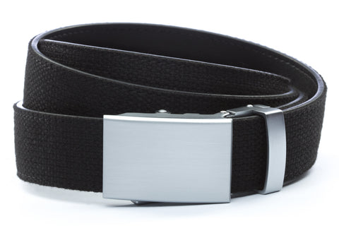 1-25-quot-classic-buckle-in-silver 1-25-quot-black-canvas-strap