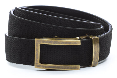 1-25-quot-traditional-buckle-in-antiqued-gold 1-25-quot-black-canvas-strap
