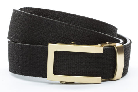 1-25-quot-traditional-buckle-in-gold 1-25-quot-black-canvas-strap