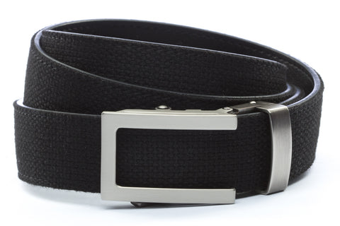 1-25-quot-traditional-buckle-in-gunmetal 1-25-quot-black-canvas-strap