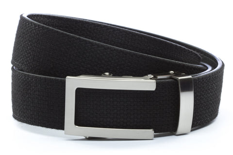 1-25-quot-traditional-buckle-in-silver 1-25-quot-black-canvas-strap
