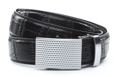 1-25-quot-anson-golf-buckle-in-silver 1-25-quot-black-faux-croc-strap
