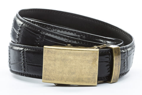 1-25-quot-classic-buckle-in-antiqued-gold 1-25-quot-black-faux-croc-strap