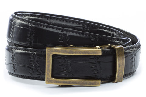 1-25-quot-traditional-buckle-in-antiqued-gold 1-25-quot-black-faux-croc-strap