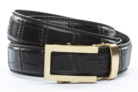 1-25-quot-traditional-buckle-in-gold 1-25-quot-black-faux-croc-strap