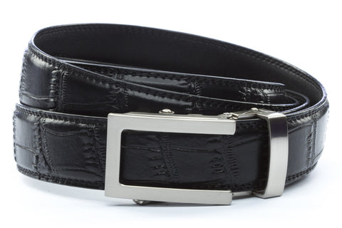 1-25-quot-traditional-buckle-in-silver 1-25-quot-black-faux-croc-strap