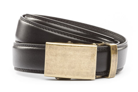 1-25-quot-classic-buckle-in-antiqued-gold 1-25-quot-black-leather-strap