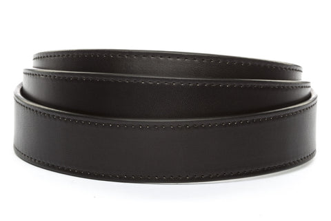 "1.25"" Black Vegetable Tanned Leather Strap - Anson Belt & Buckle"