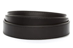 "1.25"" Black Vegetable Tanned Leather Strap"