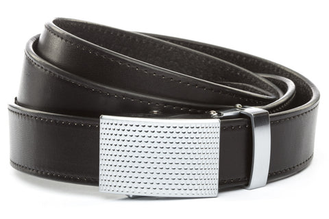 1-25-quot-anson-golf-buckle-in-silver 1-25-quot-black-vegetable-tanned-leather-strap