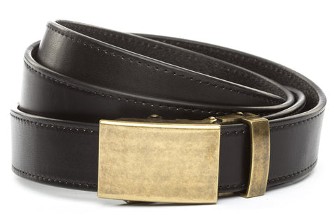 1-25-quot-classic-buckle-in-antiqued-gold 1-25-quot-black-vegetable-tanned-leather-strap