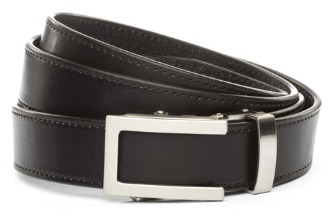 1-25-quot-traditional-buckle-in-silver 1-25-quot-black-vegetable-tanned-leather-strap