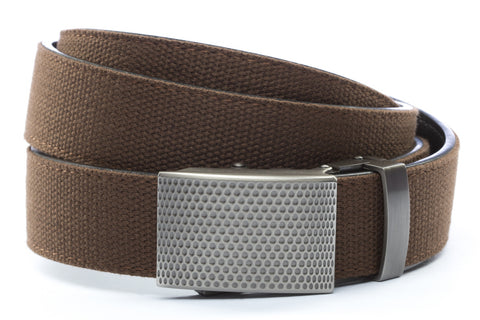 1-25-quot-anson-golf-buckle-in-gunmetal 1-25-quot-brown-canvas-strap