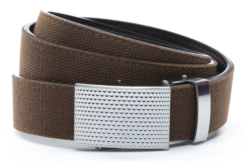 1-25-quot-anson-golf-buckle-in-silver 1-25-quot-brown-canvas-strap