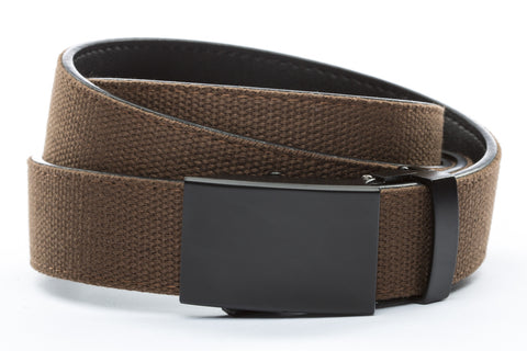 1-25-quot-classic-buckle-in-black 1-25-quot-brown-canvas-strap