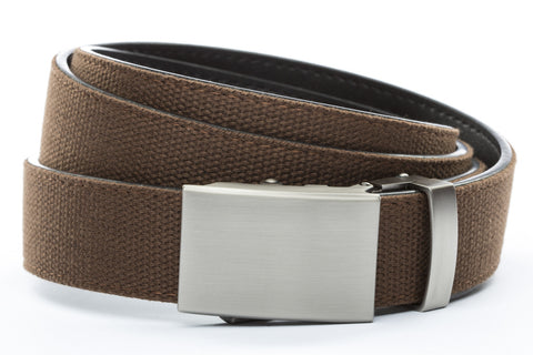 1-25-quot-classic-buckle-in-gunmetal 1-25-quot-brown-canvas-strap