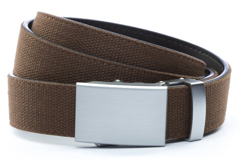 1-25-quot-classic-buckle-in-silver 1-25-quot-brown-canvas-strap