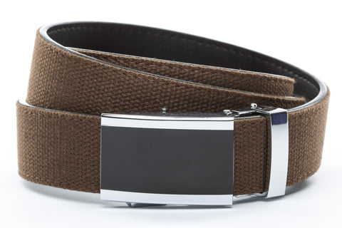 1-25-quot-onyx-buckle 1-25-quot-brown-canvas-strap