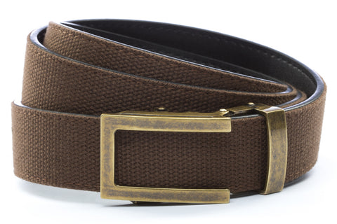 1-25-quot-traditional-buckle-in-antiqued-gold 1-25-quot-brown-canvas-strap