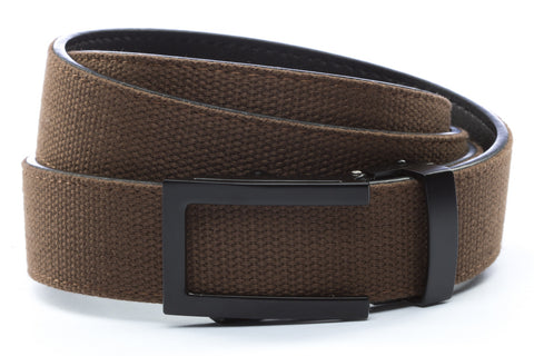 1-25-quot-traditional-buckle-in-black 1-25-quot-brown-canvas-strap