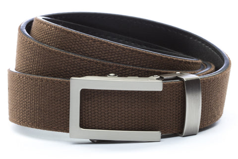 1-25-quot-traditional-buckle-in-gunmetal 1-25-quot-brown-canvas-strap