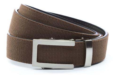 1-25-quot-traditional-buckle-in-silver 1-25-quot-brown-canvas-strap