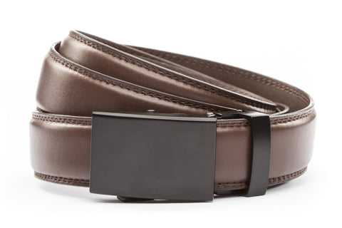 1-25-quot-classic-buckle-in-black 1-25-quot-chocolate-leather-strap