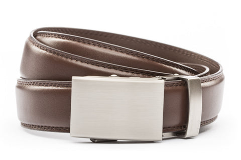 1-25-quot-classic-buckle-in-gunmetal 1-25-quot-chocolate-leather-strap