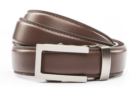 1-25-quot-traditional-buckle-in-gunmetal 1-25-quot-chocolate-leather-strap