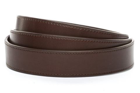 "**FACTORY SECOND** 1.25"" Chocolate Vegetable Tanned Leather Strap"