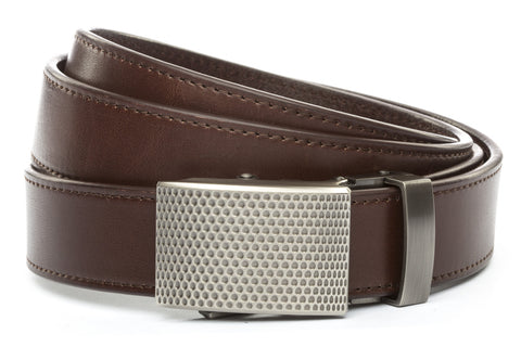 1-25-quot-anson-golf-buckle-in-gunmetal 1-25-quot-chocolate-vegetable-tanned-leather-strap
