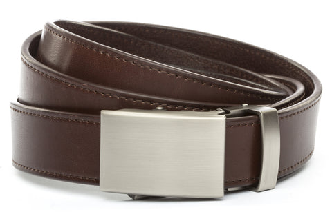 1-25-quot-classic-buckle-in-gunmetal 1-25-quot-chocolate-vegetable-tanned-leather-strap