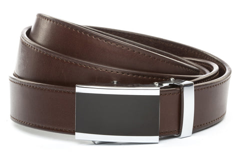 1-25-quot-onyx-buckle 1-25-quot-chocolate-vegetable-tanned-leather-strap