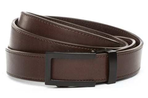 1-25-quot-traditional-buckle-in-black 1-25-quot-chocolate-vegetable-tanned-leather-strap