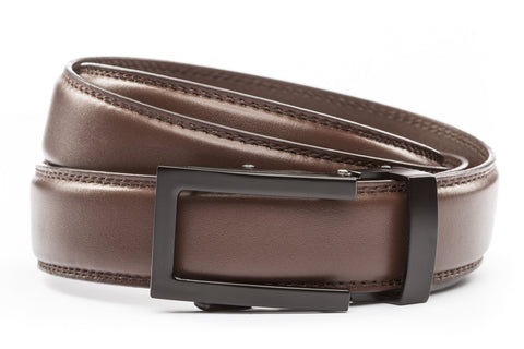 1-25-quot-traditional-buckle-in-black 1-25-quot-chocolate-leather-strap