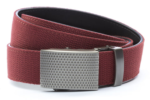 1-25-quot-anson-golf-buckle-in-gunmetal 1-25-quot-crimson-canvas-strap