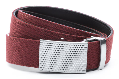 1-25-quot-anson-golf-buckle-in-silver 1-25-quot-crimson-canvas-strap