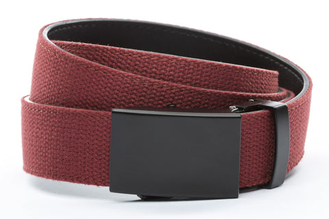 1-25-quot-classic-buckle-in-black 1-25-quot-crimson-canvas-strap