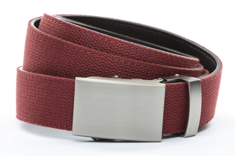 1-25-quot-classic-buckle-in-gunmetal 1-25-quot-crimson-canvas-strap