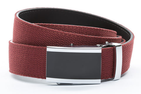 1-25-quot-onyx-buckle 1-25-quot-crimson-canvas-strap